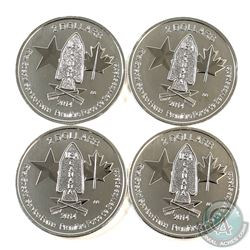 2014 Canada $2 Special Service Forces 1/2oz .9999 Fine Silver Coins. 4pcs (TAX Exempt)