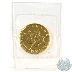 1993 Canada $10 1/4oz .9999 Fine Gold Maple Leaf in Sealed Plastic. (TAX Exempt)