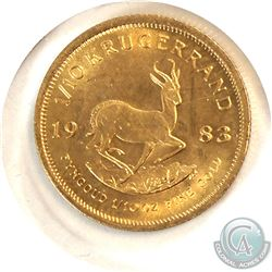1983 South Africa 1/10oz Fine Gold Coin. (TAX Exempt)