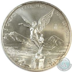 2012 Mexico 5oz .999 Fine Silver Libertad (Toned). (TAX Exempt)