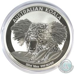 2014 Australia 10oz .999 Fine Silver Koala (Capsule is scratched). (TAX Exempt)