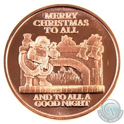 10x Merry Christmas to All & 10x Unto Us a Child is Born 1oz .999 Fine Copper Rounds in Plastic Tube