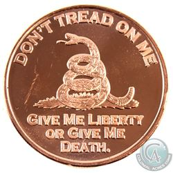 10x Don't Tread On Me & 10x USS Constitution 1oz .999 Fine Copper Rounds in Plastic Tube. 20pcs