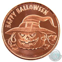 10x Happy Halloween & 10x Legendary Dragons 1oz .999 Fine Copper Rounds in Plastic Tube. 20pcs