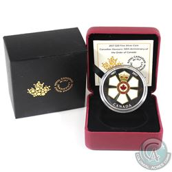 2017 $20 Canadian Honours - 50th Anniversary of the Order of Canada Fine Silver Coin. (TAX Exempt)