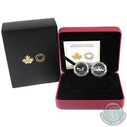 2017 Canada $1 30th Anniversary of the Loonie Fine Silver 2-coin Set (Outer sleeve unglued on one si
