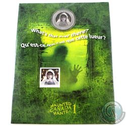 2014 Haunted Canada 25-cent Ghost Bride Coin & Stamp Set.
