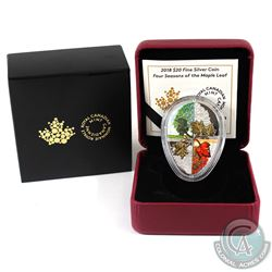2018 Canada $20 Four Seasons of the Maple Leaf Fine Silver Coin. (TAX Exempt)