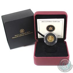 2012 Canada 50-cent The Bluenose 1/25oz Fine Gold Coin (Capsule lightly scratched). (TAX Exempt)