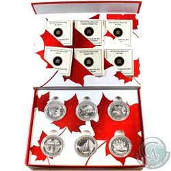 2013 $10 O Canada Fine Silver 6-coin Set in Deluxe Display - The Beaver, Canadian Summer Fun, The Or