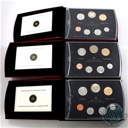 2007, 2008, 2009 Canada Specimen Set Collection. 3 sets.