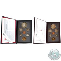 1995 & 1995 Limited Edition Canada Proof Double Dollar sets. Please note coins may be toned. 2 sets.