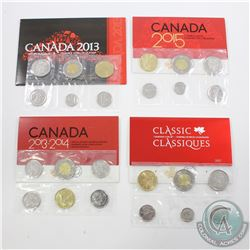 2013-2017 Canada Uncirculated Set collection. You will receive the 2013 Type 2, 2013-2014 Special Ed