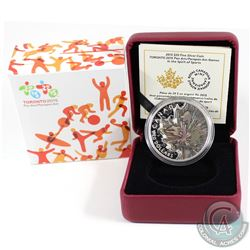 2015 Canada $20 Pan AM/ParaPan AM Games - Spirit of Sports Fine Silver Coin (Tax Exempt)