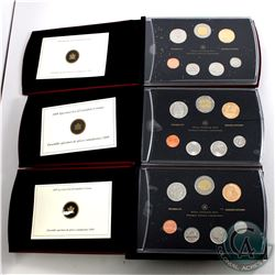 2008, 2009, 2010 Canada Specimen set Collection. Please note packaging on the sets is impaired. 3 se