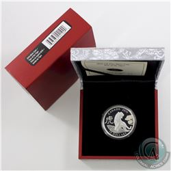 2010 Canada $15 Zodiac Year of the Tiger Fine Silver Coin (Tax Exempt)