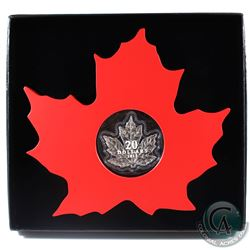 2015 $20 The Canadian Maple Leaf - Maple Leaf Shaped Fine Silver. Includes cardboard shipping box. (