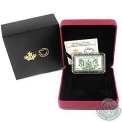 2019 $20 Canada's Historical Stamps Coat of Arms & Flags Special Delivery Fine Silver. (TAX Exempt)