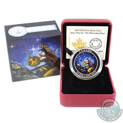 2015 Canada $25 Star Charts - The Wounded Bear Fine Silver Coin (Light scratches on back of coin). (