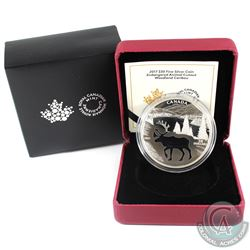 2017 Canada $30 Endangered Animal Cut-out - Woodland Caribou Fine Silver Coin. (TAX Exempt)