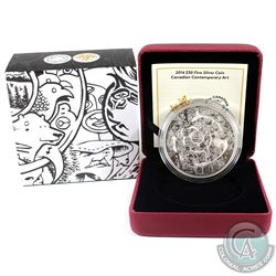 2014 Canada $30 Canadian Contemporary Art - Tim Barnard Fine Silver Coin. (TAX Exempt)