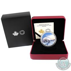 2018 Canada $30 Arctic Animals & the Northern Lights - Polar Bear Fine Silver Coin. (TAX Exempt)