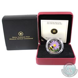 2012 Canada $20 Aster with Venetian Glass Bumble Bee Fine Silver Coin (Sleeve is lightly worn). (TAX