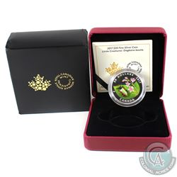 2017 Canada $20 Little Creatures - Dogbane Beetle Fine Silver Coin (Sleeve is tattered). (TAX Exempt