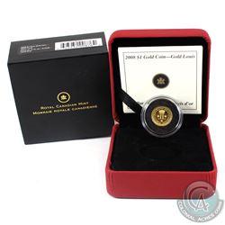 2008 Canada $1 24-Karat Fine Gold Louis. (TAX Exempt)