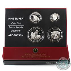 2005 Canada Fractional The Lynx .9999 Fine Silver 4-coin Set. (TAX Exempt)