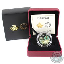 2017 Canada $20 Under the Sea - Seahorse Fine Silver Coin. (TAX Exempt)