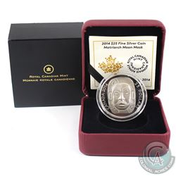 2014 Canada $25 Matriarch Moon Mask Fine Silver Coin (Capsule is scratched). (TAX Exempt)