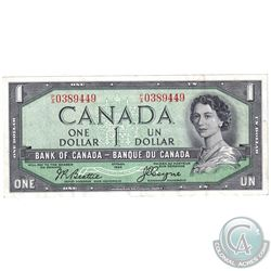 1954 Devil's Face $1 Bill,  Beattie-Coyne, S/N: P/A0389449,BC-29b. An attractive VF-EF note.