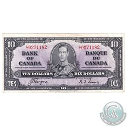 1937 $10 Banknote, Coyne-Towers, S/N: L/T0271182.  BC-24c. A nice mid grade example of this variety.