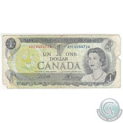 Error 1973 $1 BC-46b, Crow-Bouey Banknote Featuring an Incomplete Printing Error.