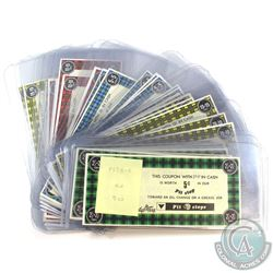 Estate Lot of Canadian Tire Pit Stops Paper Money in Fine to Uncirculated Condition. You will receiv
