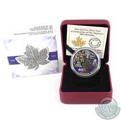 2016 Canada $20 HRH Queen Elizabeth II's 90th Birthday Fine Silver Coin (Sleeve dented on one corner