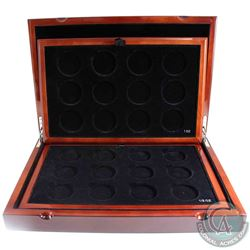 *EMPTY Royal Canadian Mint Collector Display Case with 2 trays. Stunning solid wood case inlaid with