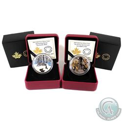 2017 Canada $20 Glistening North - The Arctic Wolf & 2017 $20 The Nutty Squirrel and the Mighty Oak