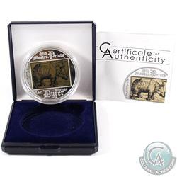 Cook Islands Mint Issue: 2013 Cook Islands $5 Albrecht Durer Rhinoceros Old Master Prints Sterling S