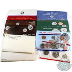 U.S. Mint Issue: Lot of U.S. Mint Uncirculated Sets. You will receive 1971, 1972, 1985, 1987, 1991,