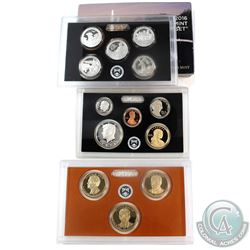 2016 United States mint silver proof 13-coin set with box and coal (some coins are lightly toned, an
