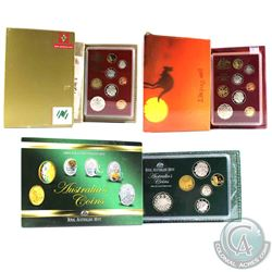 1988, 1989 & 2004 Australia Proof Sets (Outer sleeves have various impairments). 3pcs
