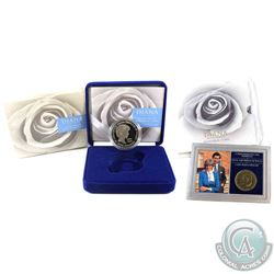 Lot of 3x Princess Diana of Wales Commemorative Coins from the Royal Mint. You will receive 2x 5 Pou