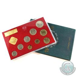 1974 USSR Leningrad Mint 9-coin with Medal Coin Set (Coins are toned).