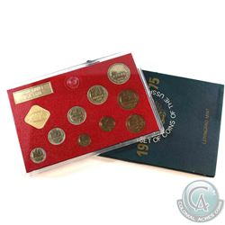 1975 USSR Leningrad Mint 9-coin with Medal Coin Set (Coins are toned).
