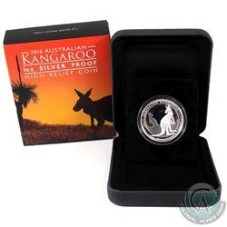 2016 Australia $1 High Relief Kangaroo 1oz Fine Silver Coin. (TAX Exempt)