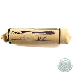 Scarce 1931 Canada George V 1-cent Roll of 50pcs.
