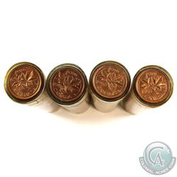 4x 1958 Canada 1-cent roll of 50pcs