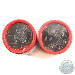 2007 Canada 25-cent Alpine Skiing & 2009 25-cent Sledge Hockey Original Olympic Special Wrap Rolls o